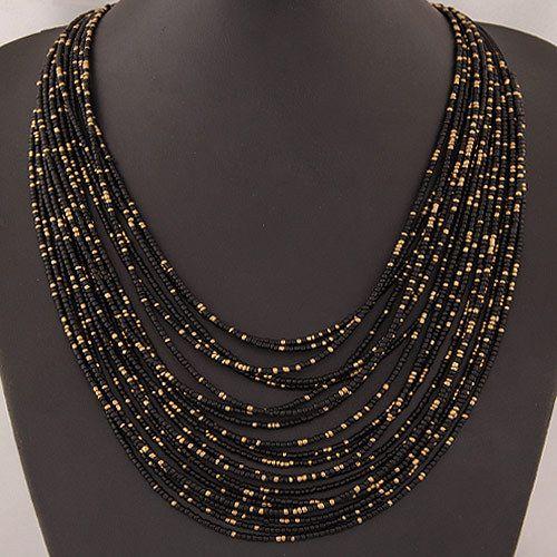 Aliexpress.com: Comprar Collar llamativo 2015 mujeres de moda bohemia multi capa con cuentas vintage collares largos y colgantes accesorios de la joyería de piezas colgantes fiable proveedores en Maggey Jewelry