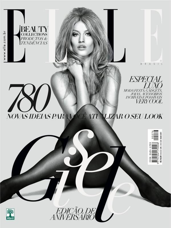 Elle magazine does an amazing job of creating an aesthetically pleasing image featuring both typography design and photographic elements. The depth given from the placement of letters behind and in front of the model create visual interest. Love the way she poses too.