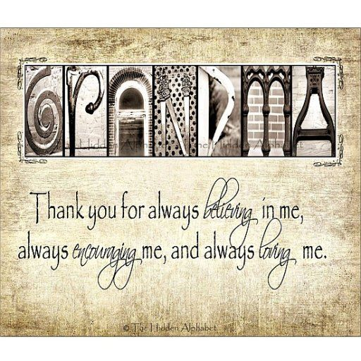 I Love You Grandma Quotes In Spanish : Death Quotes For grandma Grandma. Thank you for always believing in ...