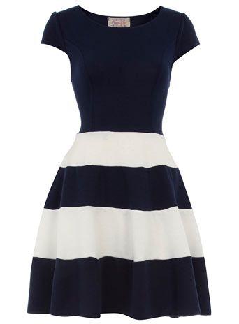 .: Navy Stripes, Cute Dresses, Cap Sleeves, Navy Dresses, Stripes Skirts, Navy Skater, Skater Dresses, Stripes Dresses, Navy Strips