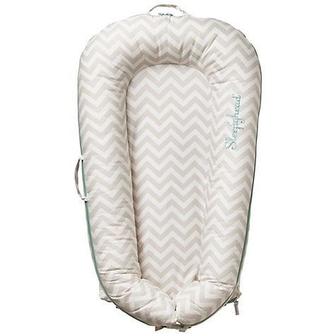 Buy Sleepyhead Deluxe Portable Baby Pod, Chevron, 0-8 months Online at johnlewis.com