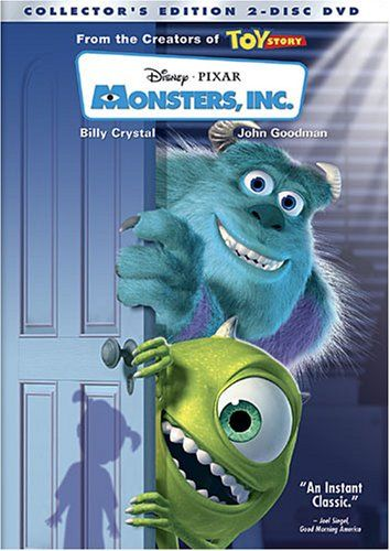 Monsters, Inc (I think this is my all-time favorite disney-pixar movie)