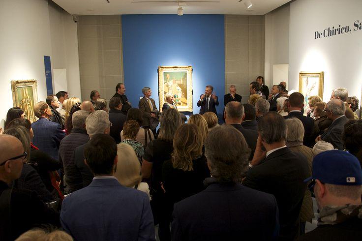 """L'inaugurazione ufficiale insieme alla mostra """"De Chirico, Savinio e Les Italiens de Paris"""""""