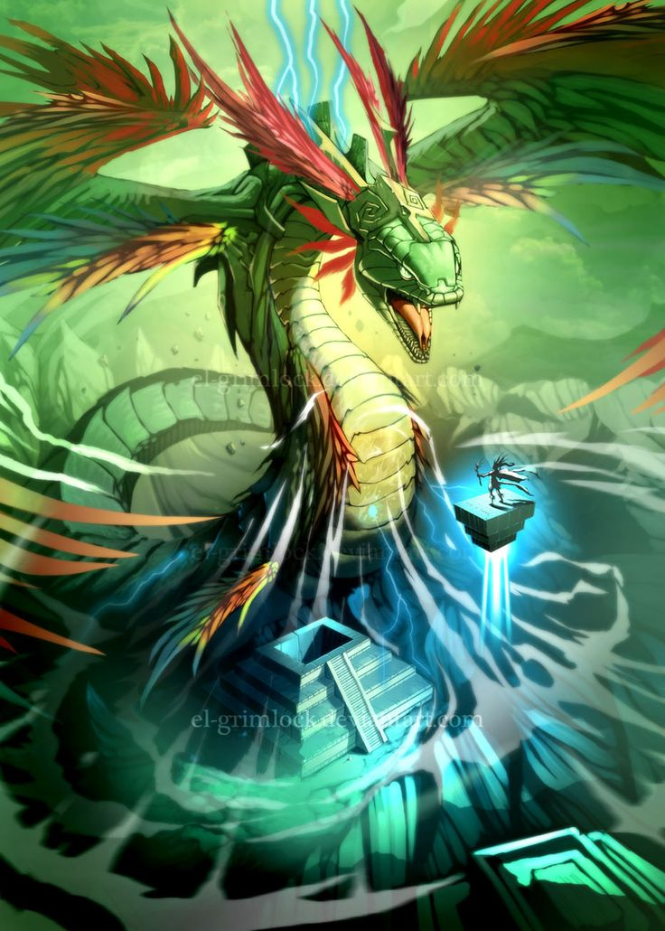 Quetzalcoatl was one of several important gods in the Aztec pantheon along with the gods Tlaloc, Tezcatlipoca and Huitzilopochtli.