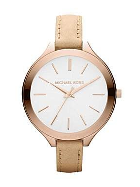 Michael Kors MK2284 Nude Leather Ladies Watch - House of Fraser