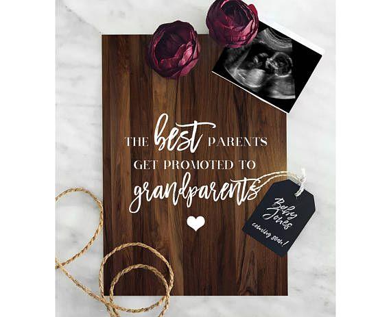 Pregnancy Announcement Grandparents Pregnancy Reveal