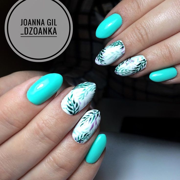 Gel Polish Freshmaker i wiosenne listki  @indigonails #indigo #indigolove #indigonails #indigolicious #nails #nailart #nailholic…