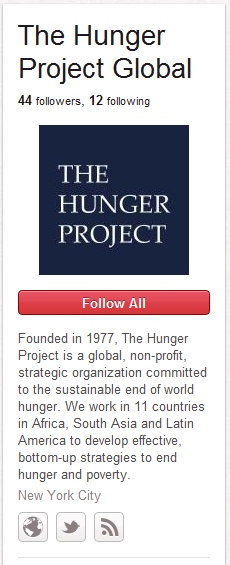 The Hunger Project on Pinterest!Nonprofit Organic, Nonprofit Friends