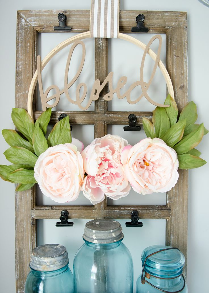 Spring Crafts are in bloom with these flowers and fun design! Great decor for bringing the outdoors in.