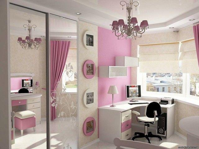 blanco y rosa se combinan en esta habitación