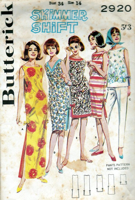 1960s Vintage pattern Beach Dress Skimmer by allthepreciousthings, I must have made over 50 of these dresses!!