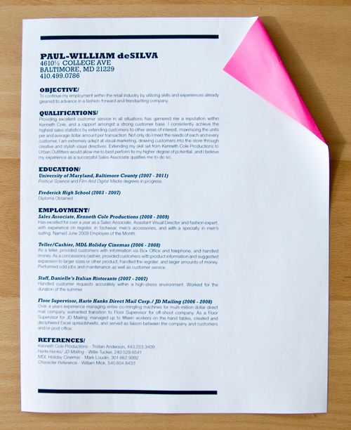 13 best Minimal résumé images on Pinterest Cover letters - best paper for resume