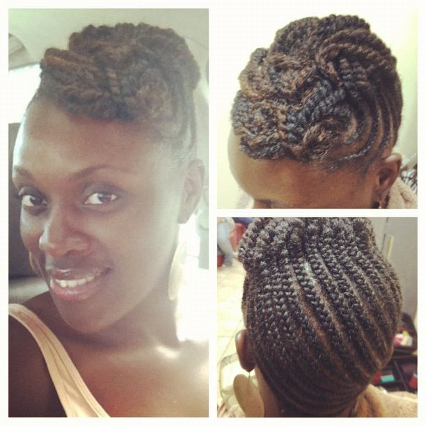 69 best twa hairstyles images on pinterest braids hairstyles natural hairstyle flattwist updo do you like my new look what is your go pmusecretfo Image collections