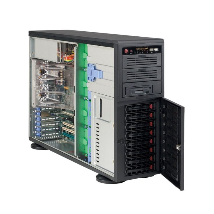 SM10-1/50-PED-E52609V3(1)/16GB/HS/8BAY  • Pedestal Chassis 865W PSU • 8x 3.5″ SATA Hot-Swappable Drive Bays • Intel Xeon E5-2609V3 1.9GHz 6C 15MB 2011 SKT (x1) • 16GB DDR4-2133 RDIMM • 2x WD 1TB Enterprise Drives (RAID 1 for OS) • Assembly & Testing Included (48Hrs)