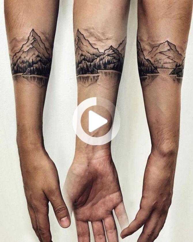 50 Mountain Tattoos Mountain Tattoo Wrist Band Tattoo Tattoos