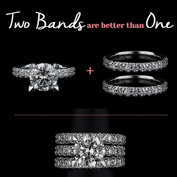 Two Wedding Bands Are Better Than One Miadonna The Future Of Diamond Sets In 2018 Pinterest And Rings