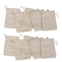Home   Lot of 10 Linen Jute Sack Jewelry Pouch Drawstring Gift Bags Wedding Favour