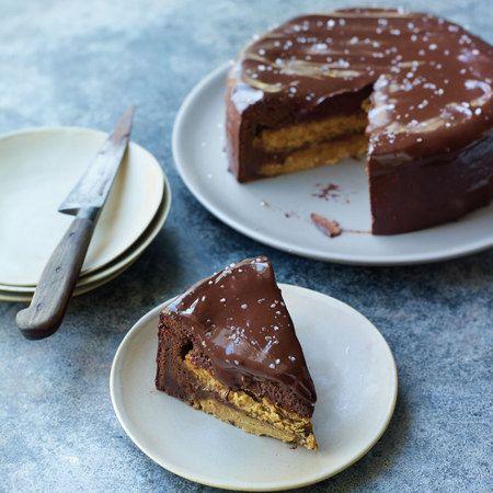 Eric Lanlard's Salted butter caramel cake