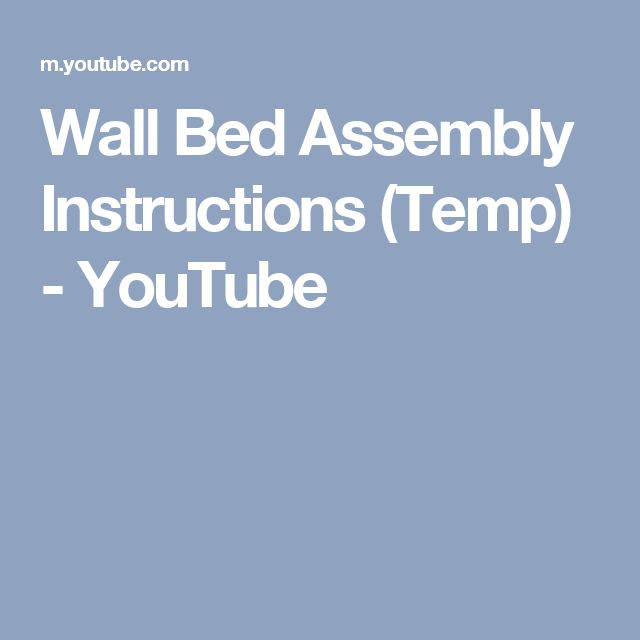 bestar wall bed assembly instructions