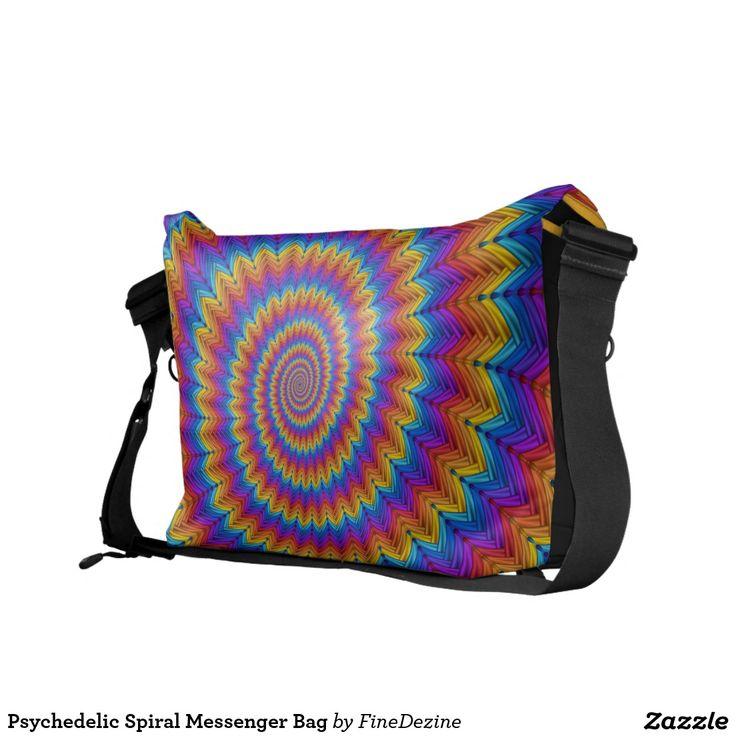 Psychedelic Spiral Messenger Bag
