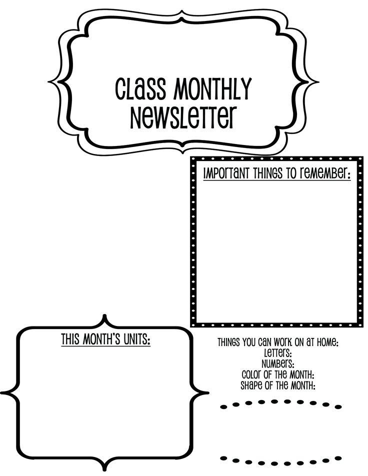 45 best Preschool Newsletter Templates images on Pinterest