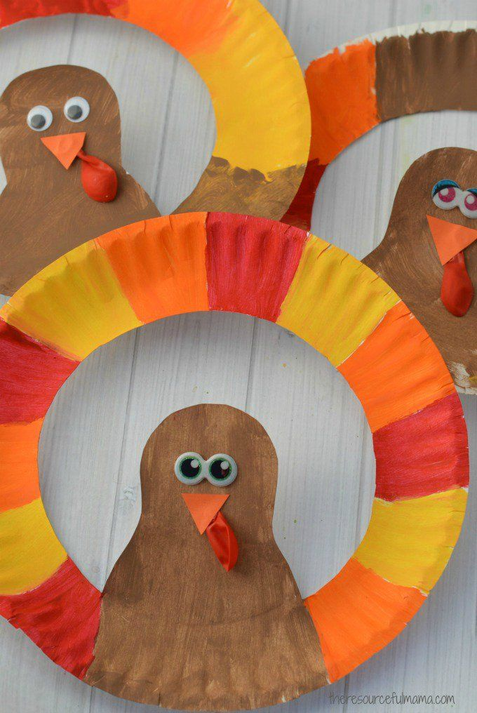 Paper Plate Turkey Craft Thanksgiving Crafts For Kids