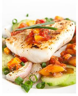 Were having this for dinner tonight .Grilled Orange Roughy with mango salsa