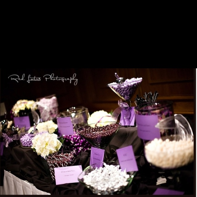 Purple U0026 White Candy Table