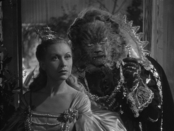 Jean Marais and Josette Day in the beauty and the beast by Jean Cocteau (1946).