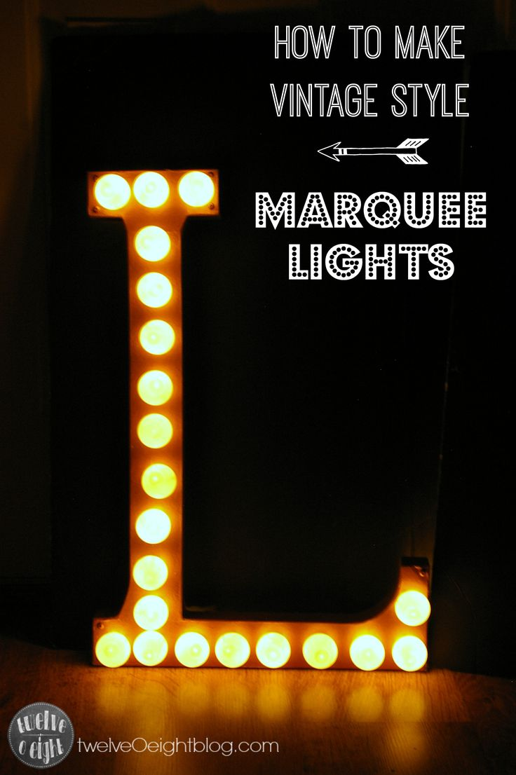 How to make Marquee Lights. paper mache letter. copper foil. ping pong balls and clear Christmas lights.