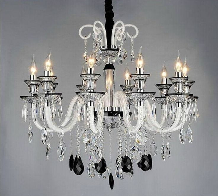 12 best how to fit a black and white chandelier into interior images how to fit a black and white chandelier into interior black and white crystal chandelier for home aloadofball Images