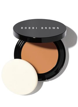 """Bobbi Brown: Long-Wear Even Finish Compact Foundation / """"Your can't-live-without liquid foundation, now in a fuss-free compact.  Perfectly matched to skin tone and texture, it never looks fake or makeup-y, just like smooth, even skin. With 12 hours of flawless, oil-free wear, all you see is your skin - at its best. Plus, it's completely portable, too - with a hidden sponge applicator right in the compact - so you look polished wherever you go."""""""