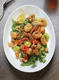 Image result for calamari with bread crumbs, herbs