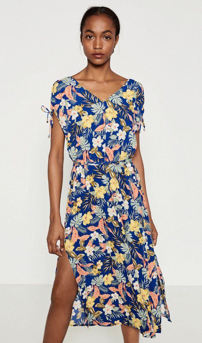 #Bodas La barriguita premamá, en un vestido floreado de ZARA para ser la más guapa