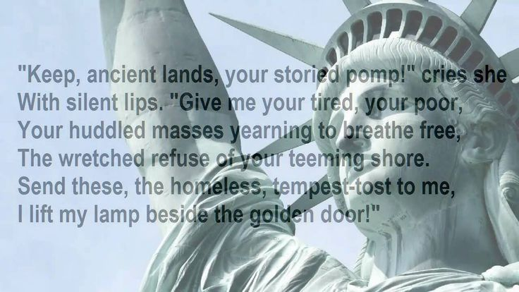 The USA is and has always been a melting pot of immigrants. The first immigrants took this country from the Native American Tribes.  What will we be if we choose to ignore the constitution and the Liberty that is written on Lady Liberty's side?