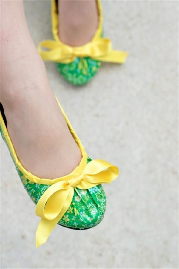 DIY duct tape shoes - how to make ballet flats fun and awesome!
