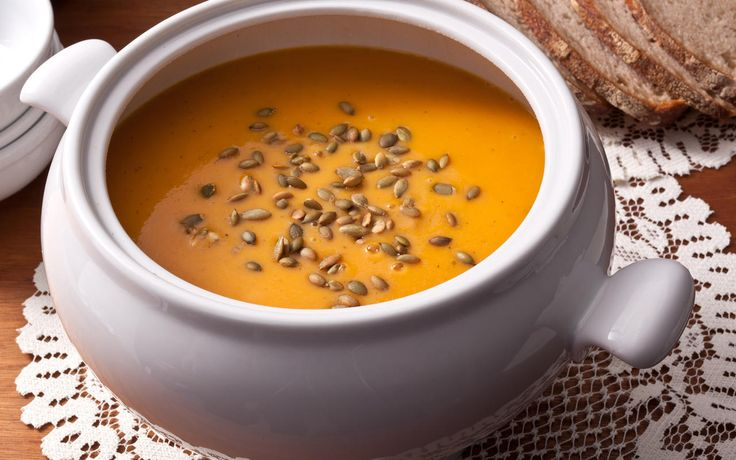 A delicious roasted butternut squash soup recipe blended with sautéed onions and tart apples.