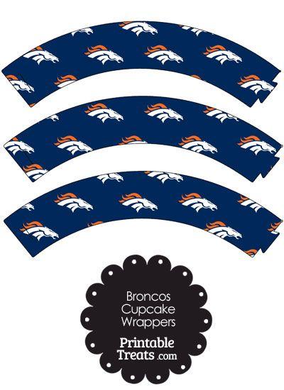 Denver Broncos Logo Cupcake Wrappers from PrintableTreats.com