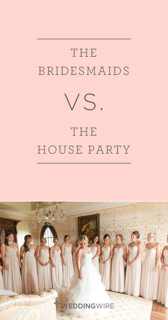 """Are you having trouble narrowing down who should be in your wedding party? Avoid hurting feelings by having a """"house party"""" in addition to your bridal party! Not sure what the difference is between the house party vs. your bridesmaids? We broke it down for you.  {Katelyn James Photography}"""