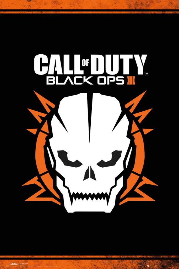 Call of Duty Black Ops 3 Skull - Official Poster. Official Merchandise. Size: 61cm x 91.5cm. FREE SHIPPING