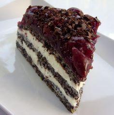 Csiperke blogja: Meggyes-mákos habos torta