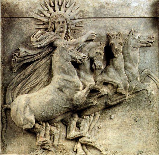 Helios in his chariot, early 4thcenturyBC, Athena's temple, Ilion