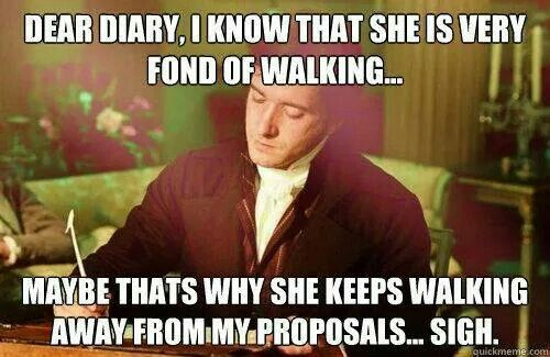 ahh poor Mr Darcy. Similar to my speculations lol!