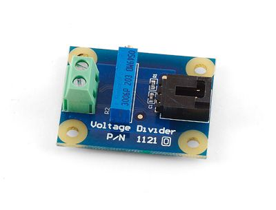 Voltage Divider ($7 USD) - This adapter lets you interface with all sorts of non-Phidgets resistance sensors, just dial in the resistance you want and away you go.