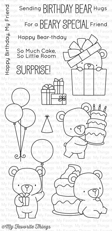 MFT stamp set Birdie Brown Beary Special Birthday stamp set My Favorite Things BEARY SPECIAL BIRTHDAY Clear Stamps BB36  #mftstamps