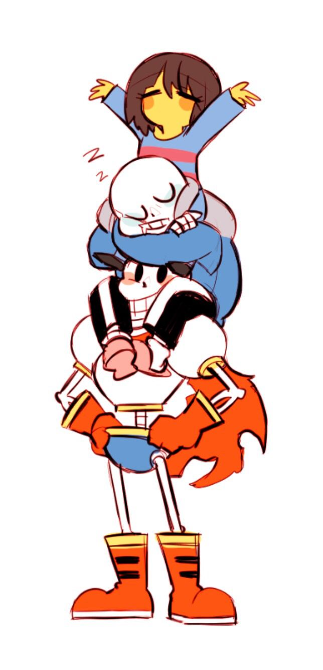 Undertale Sans and Frisk and Papyrus