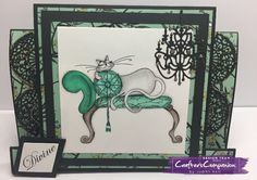 Centre stepper card made using Crafter's Companion Catitudes - designed by Judith Hall #crafterscompanion