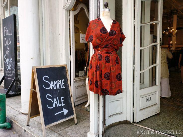 Donde comprar ropa en Nueva York Sample Sales