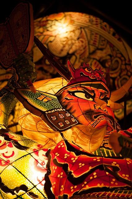 The float of Nebuta Matsuri Festival in Aomori, Japan