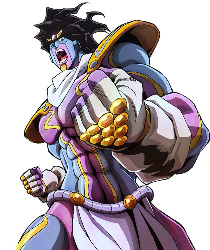 Part 4 Star Platinum Art  Found from JoJo wiki: http://jojo.wikia.com/wiki/File:SPTW_Key_Art.png
